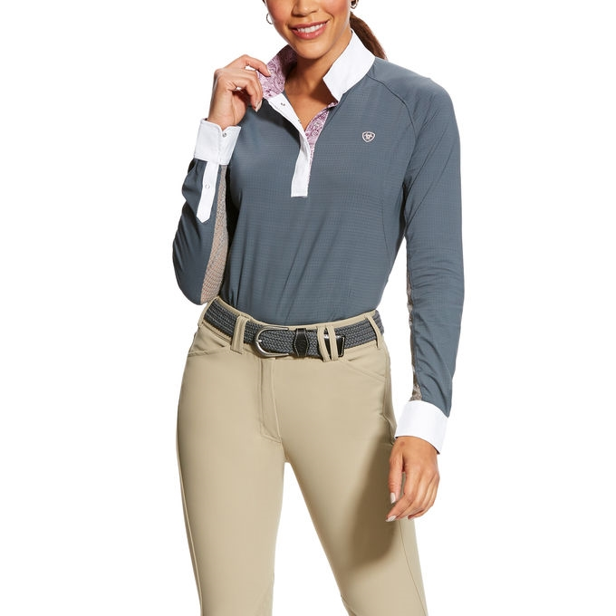 Ariat Marquis showshirt - Ice fil- ridebluse Ariat SS19