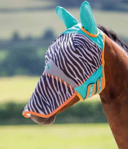 Shires Fly Mask Zeb Tek